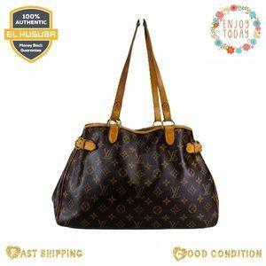 Louis Vuitton shoulder bag batignoller brown tan